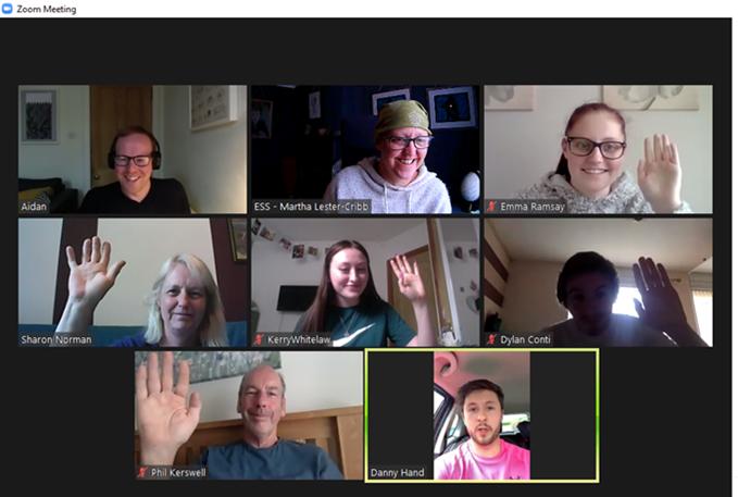 screenshot of online training session.